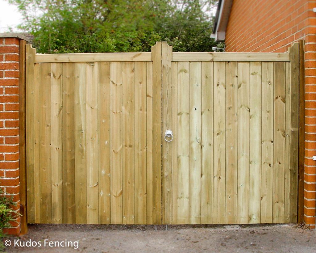 Double Timber T & G Framed Gate