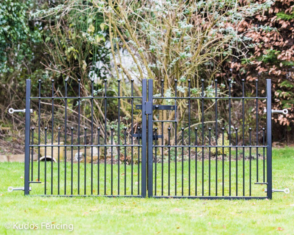 Pair Of Wrought Iron Steel Metal Gates