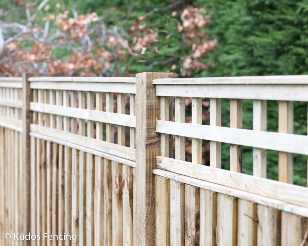 Kudos Fencing Trellis Top Closed Board Panel