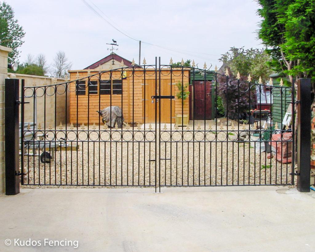 Pair Of Wrought Iron Metal Driveway Gates