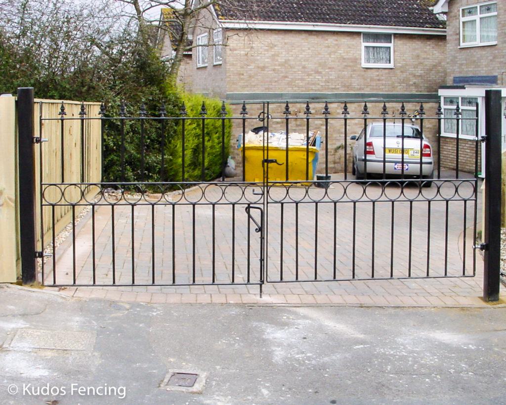 Pair Of Wrought Iron Metal Steel Driveway Gates