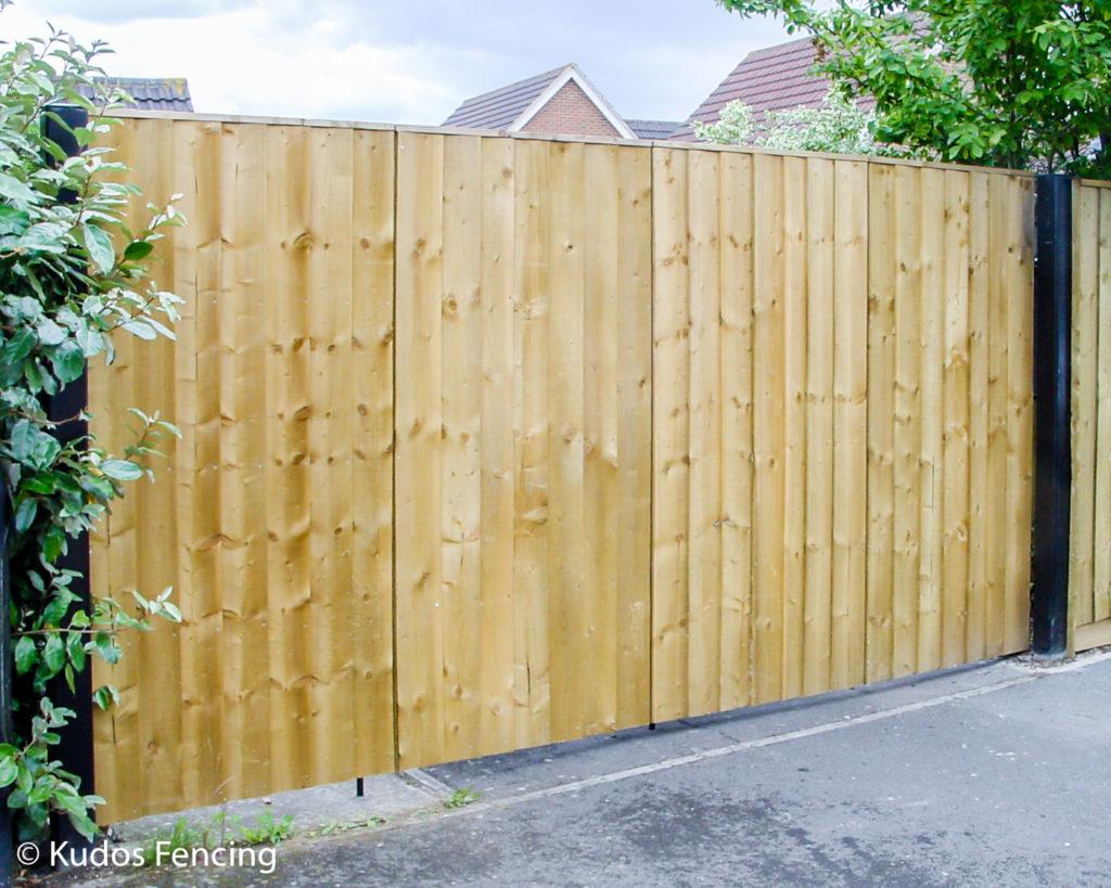 Timber & Steel Bi-fold Driveway Entrance Gates