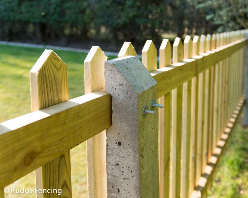Concrete Post Picket Fence